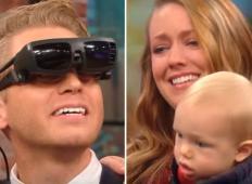 Bil je slep in nikoli ni videl svoje žene in sinčka. Toda potem dobi možnost, da ju prvič vidi ... GANLJIVO!