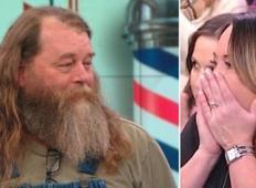 Poraščen mož dobi prvo britje v 20 letih in žena ga komaj prepozna!