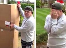 Fant z Downovim sindromom pogrešal brata, ki se je preselil. Potem pred vrata dobi škatlo in ... GANLJIVO!
