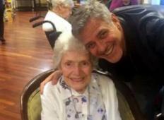 George Clooney je presenetil 87-letno starko za njen rojstni dan v domu za stare