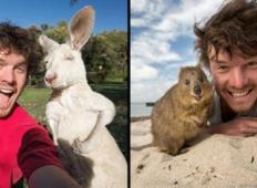 Tale moški kliče sam sebe ´šepetalec živali´ in dela najbolj očarljive selfije