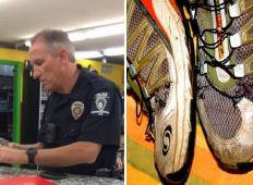 Na blagajni je želel plačati s kartico, toda ni imel denarja za nove čevlje. Čez 15 minut se je vrnil s policistom, ki je naredil ganljivo dejanje ...