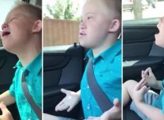 Fantek z Downovim sindromom zaslišal priljubljeno pesem na radiu. Oče je vzel kamero in sanjalo se mu ni, kaj sledi ...