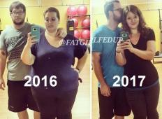 Ona je tehtala kar 220 kilogramov, on 130! Poglejte ju eno leto kasneje - ne boste verjeli, da sta to isti osebi ...