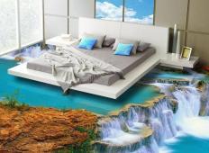 Želite spati na oblakih ali v raju? To so 3D tla, ki vam to omogočajo ...