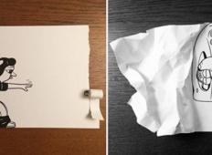 Talentiran umetnik uporabi 3D trike in čudovito oživi svoje risbe