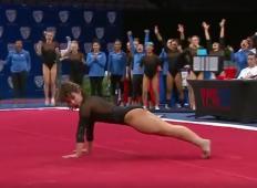 Začela se je vrteti pesem Michaela Jacksona. Ta gimnastičarka je nato izvedla nastop, kot ga še niste videli!