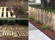 Kaj se je zgodilo v mojem vrtu prejšnjo pomlad! 11 čudežnih idej, za katere potrebujete le malce lesa