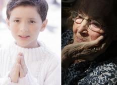 6-letni fantek je šel z mamo v restavracijo. Začel je moliti, kar je zmotilo starejšo gospo, toda potem je fantek stopil do nje in ...