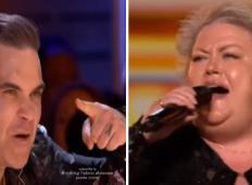 Občinstvo se je smejalo iz te kmetice, ko je stopila na oder talentov. Toda poglejte reakcijo Robbieja Williamsa ...
