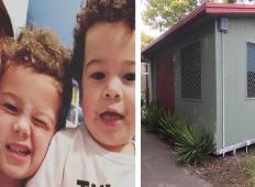 Zlomljena ločena mamica z dvema sinovoma je ostala brez stanovanja. Z lastnimi rokami si je zgradila tole mini hiško ...