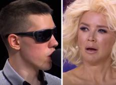 20-letni fant, ki je slep, pride na oder hrvaških talentov. Zapel je pesem Oliverja Dragojevića in tekle so solze ...