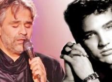 Genialno! Zmrazilo vas bo, ko boste slišali, kako Andrea Bocelli zapoje Elvisovo pesem!