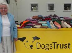 89-letna gospa brezdomnim kužkom spletla 450 odej in plaščkov!