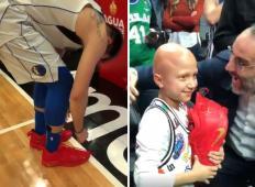 Ganljiva poteza Luke Dončića. Po tekmi si je sezul copate in jih podaril fantku, ki se bori s hudo boleznijo ...