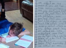 Fantek z avtizmom za domačo nalogo napisal pesmico. Te njegove besede bi si morali prebrati vsi!