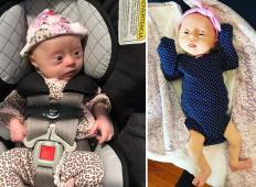 Rodila se je jima je hčerkica z Downovim sindromom. Njena mama je srečna, da je dobila tako unikatno bitje v svoje življenje!
