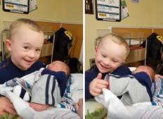 4-letni fantek z Downovim sindromom pride v porodnišnico, da prvič vidi svojega novorojenega bratca. Prizori, ki ganejo do srca ...