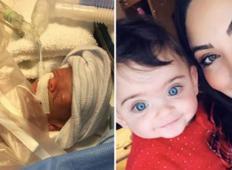 Deklica, ki se je rodila 4 mesece prezgodaj, je praznovala 1. rojstni dan! Poglejte jo ...