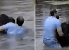 Šimpanz v živalskem vrtu po nesreči padel v vodo in se začel utapljati. Moški je skočil čez ograjo in postal junak ...