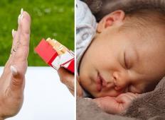 Mlada mamica se sprašuje: Naj svoji tašči kadilki dovolim, da objema otroka, potem ko je malo prej kadila?