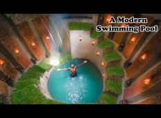Zgradil si je sanjski bazen pod zemljo. Tole si je ogledalo že več kot 40 milijonov ljudi!