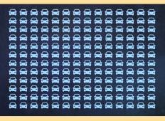 Na tej fotografiji se skriva samo 1 avtobus. Kako hitro ga boste našli?