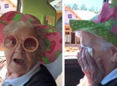 Babica je izvedela, da se bo s svojim vnukom vselila v nov. Njena reakcija je res ganljiva!