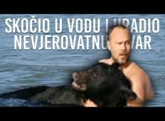 Videl je medva, ki se utaplja v vodi. Nato je naredil to neverjetno stvar!