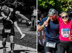 Policist je postal junak maratona. Boljši rezultat je zamenjal za pomoč ranjeni ženski!