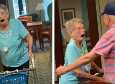 Dedek se je po petih letih narazen ponovno srečal s svojo 95-letno sestro. Njena reakcija pove vse!